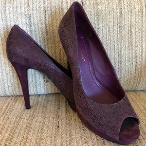 BCBG Generation purple heels with small platform
